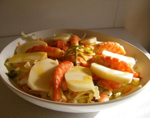 ensalada de gambón