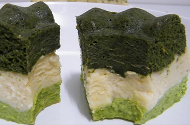 pastel de verduras tricolor
