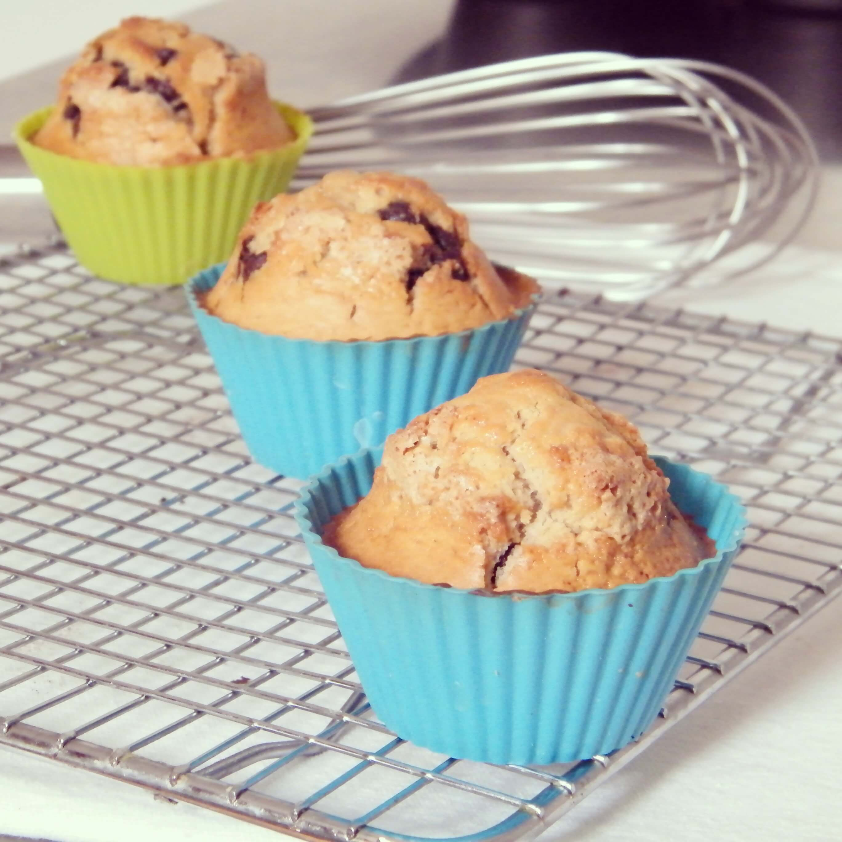 Muffin con chips de chocolate