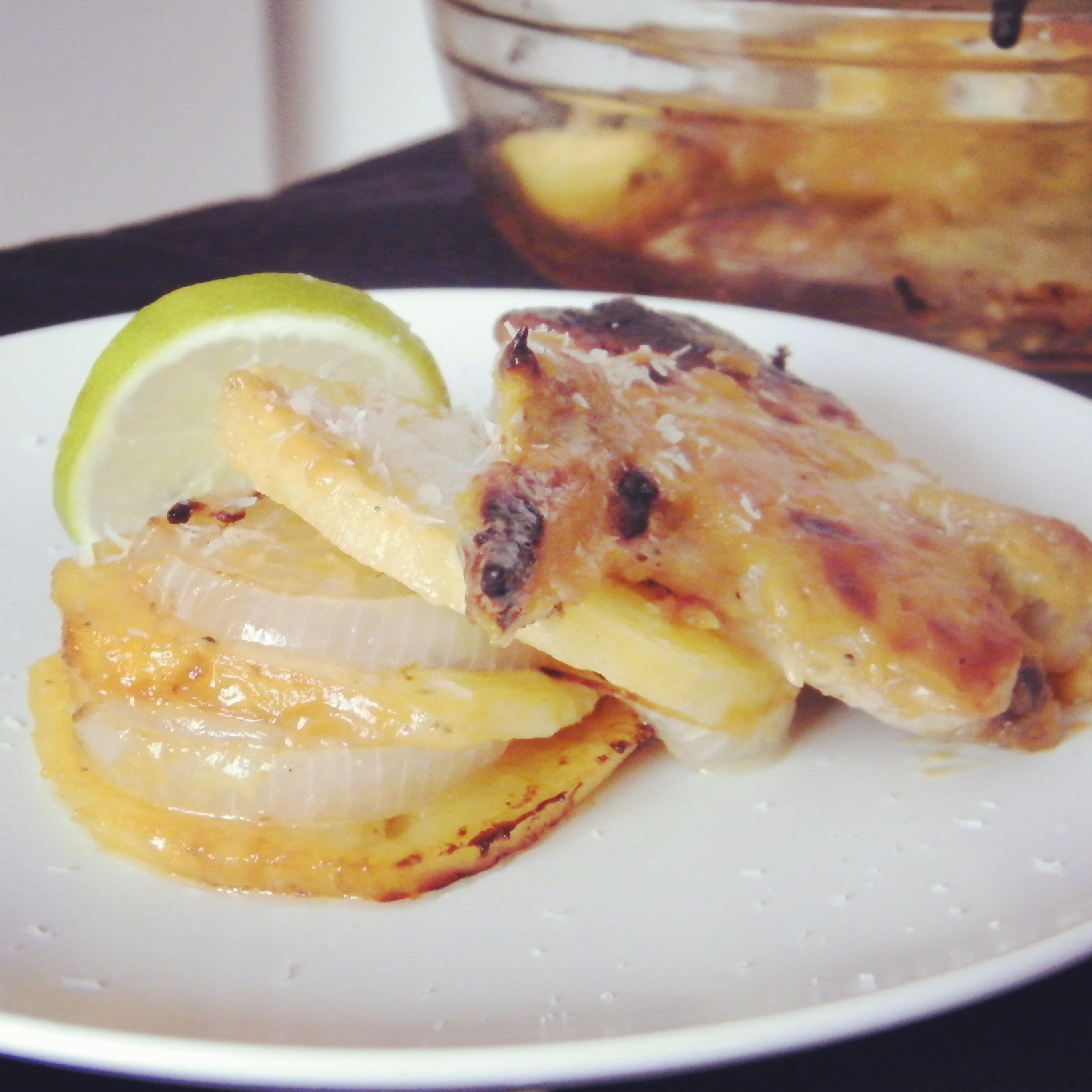 Pollo a la mostaza con miel