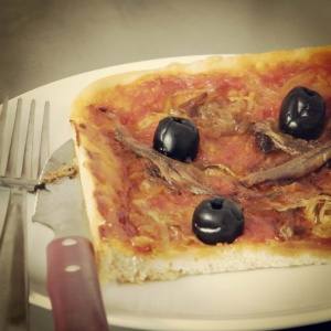 pissaladiere or onion tart