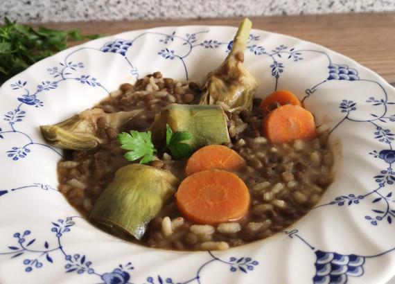 Cómo elaborar unas deliciosas lentejas con arroz
