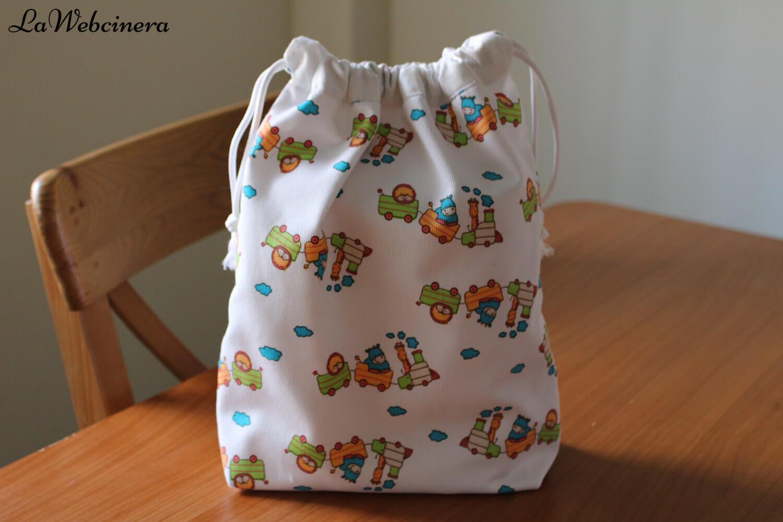cómo hacer una bolsa de merienda