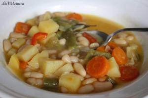 judías blancas con verduras