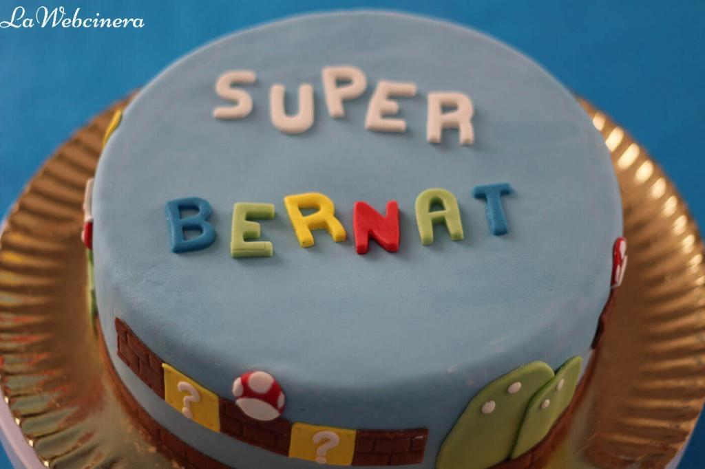 tarta fondant Super Mario