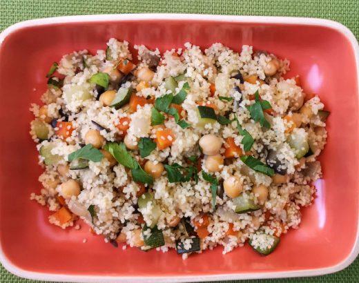 cuscús con verduras y garbanzos
