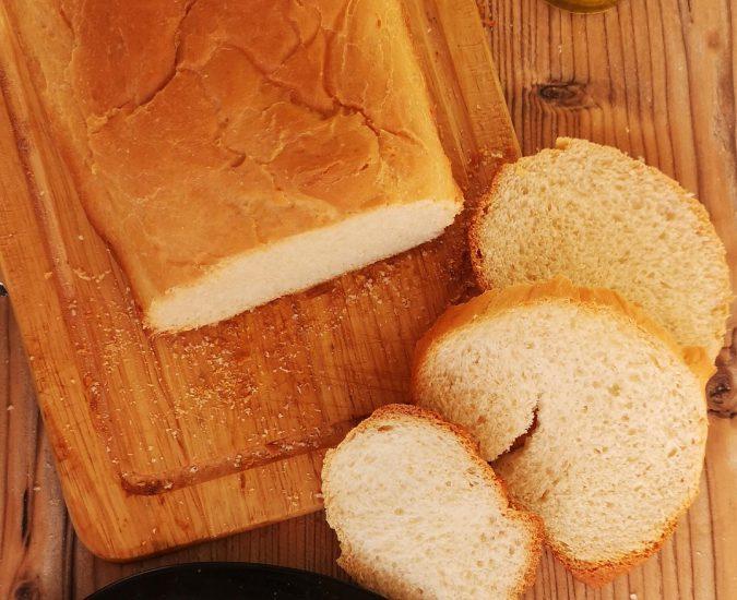 Receta de pan de molde en panificadora