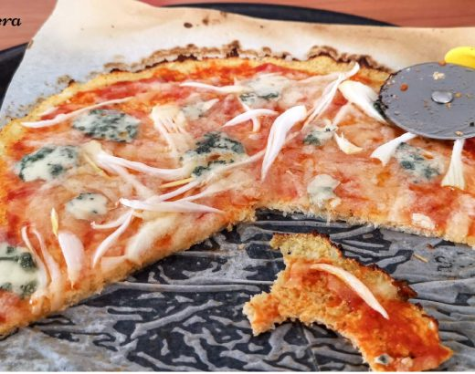 pizza con base de coliflor