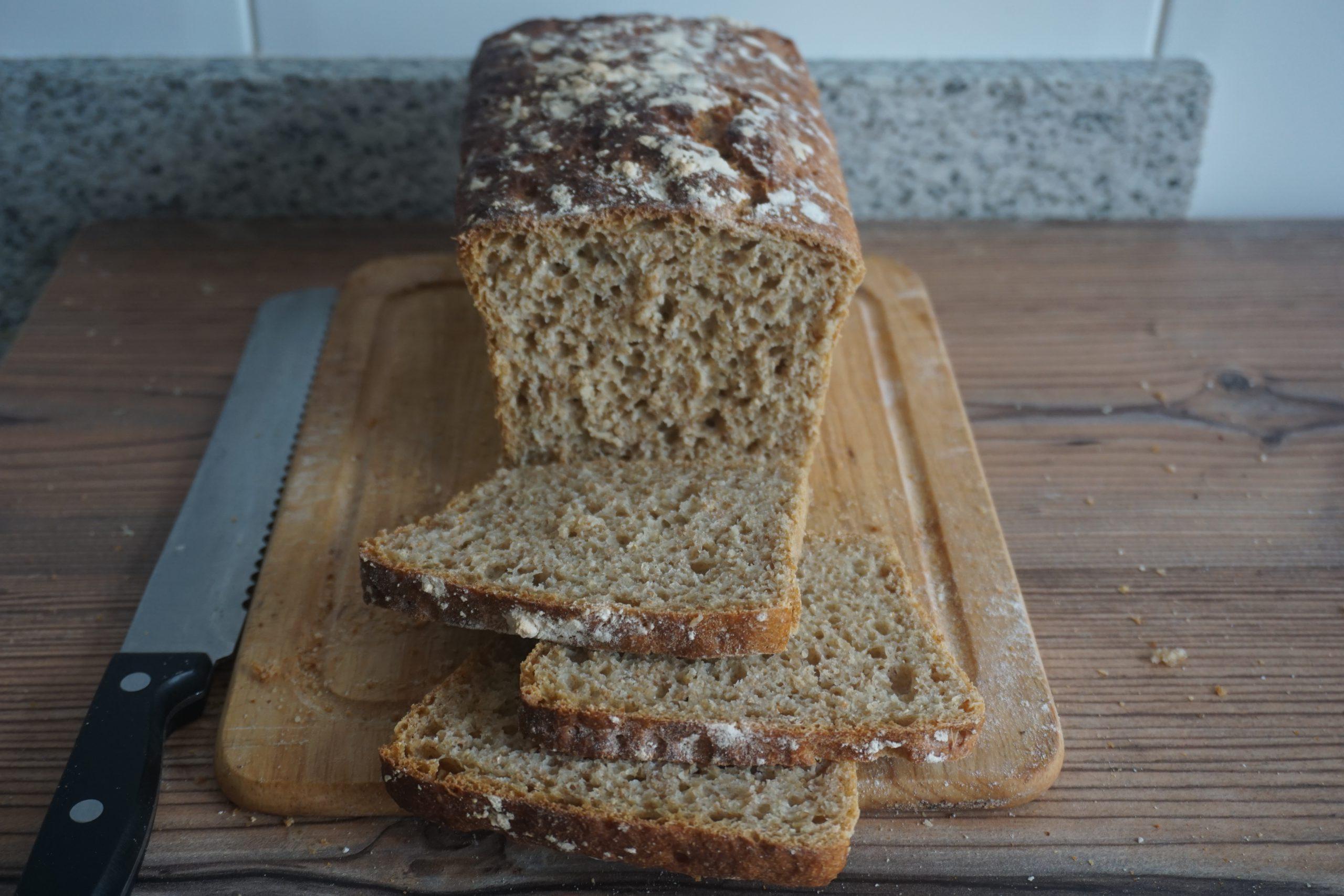 receta de pan integral sin amasado