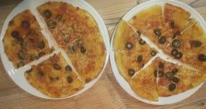 masa de pizza en la Mounsier cuisine