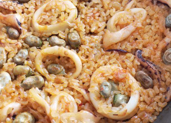 receta de arroz con habas
