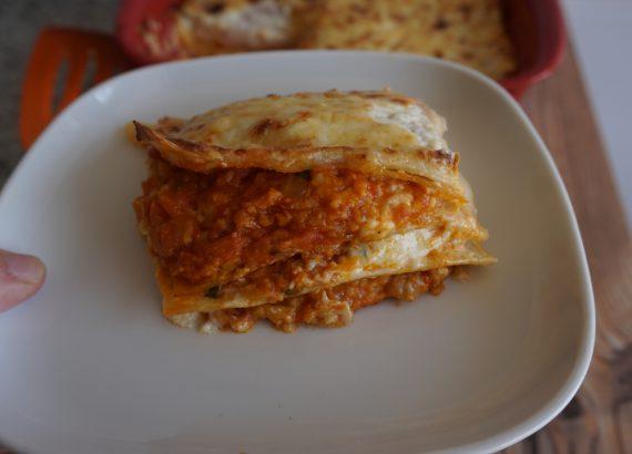 receta de lasaña vegana