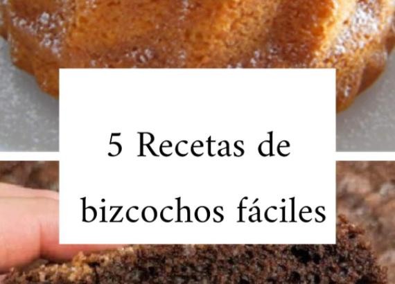 5 recetas de bizcocho fáciles