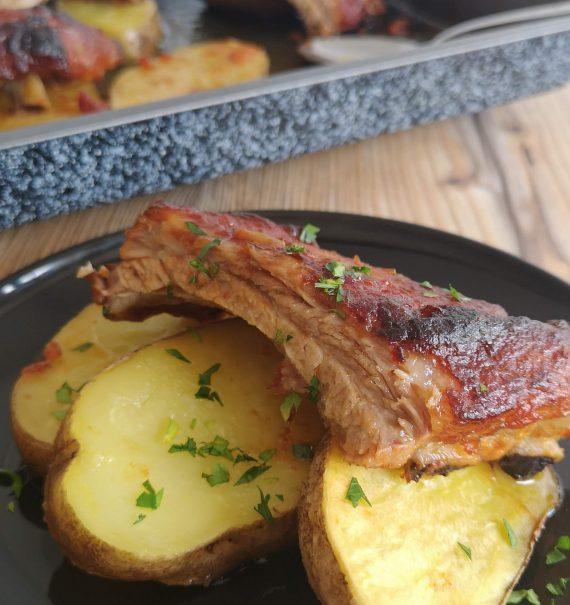 costillas de cerdo al horno lacadas