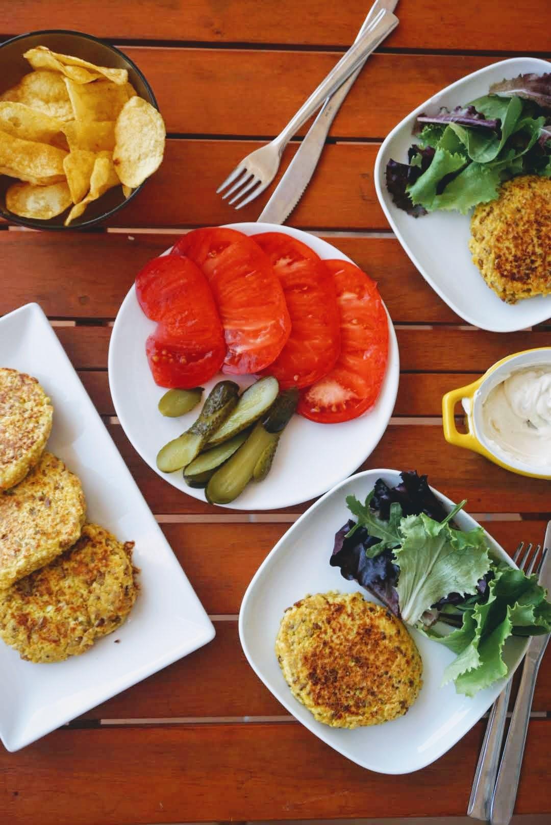 hamburguesas de coliflor y quinoa