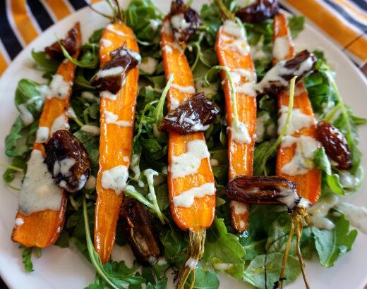 ensalada de zanahorias asadas