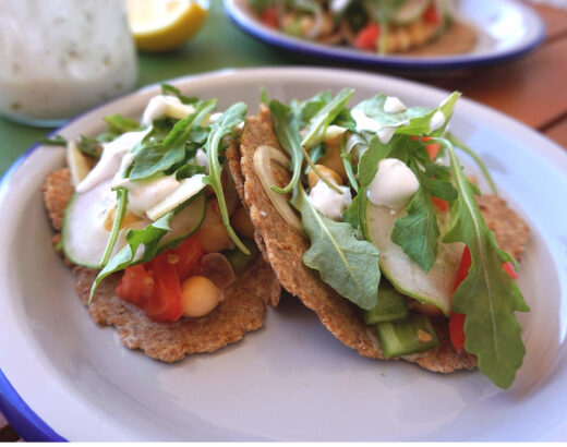 tacos saludables con garbanzos