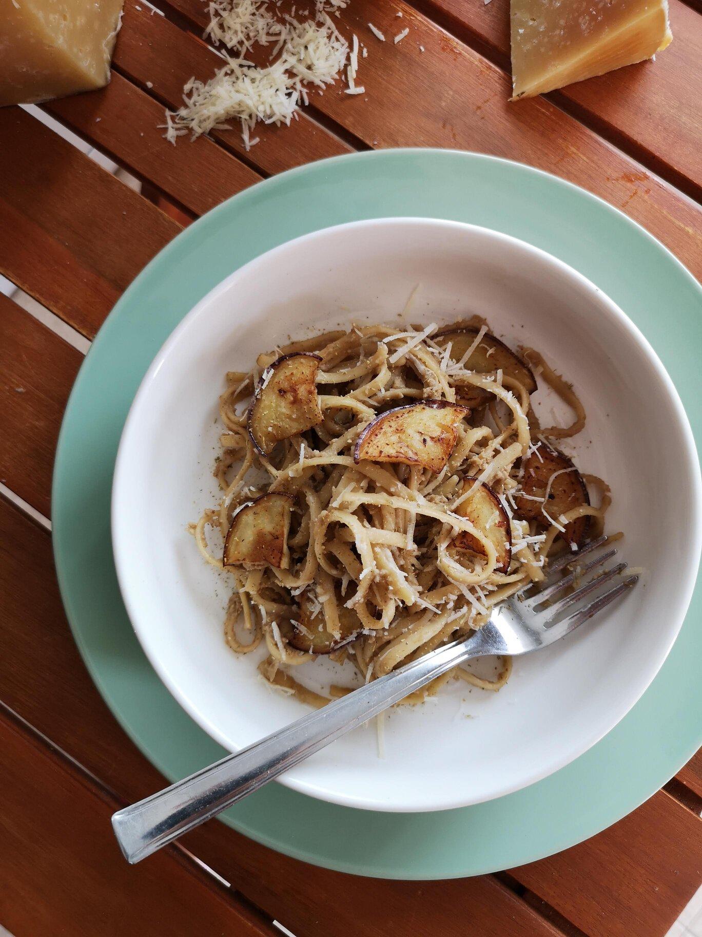 receta de pasta con berenjenas