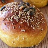 Pan de hamburguesa de calabaza