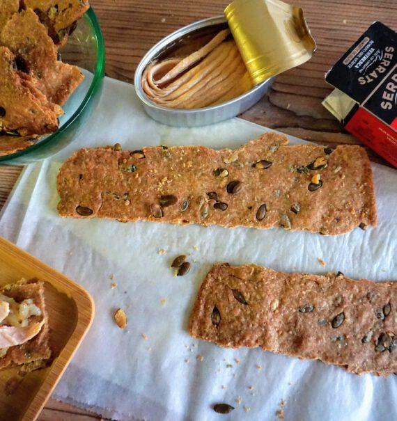 crackers de espelta