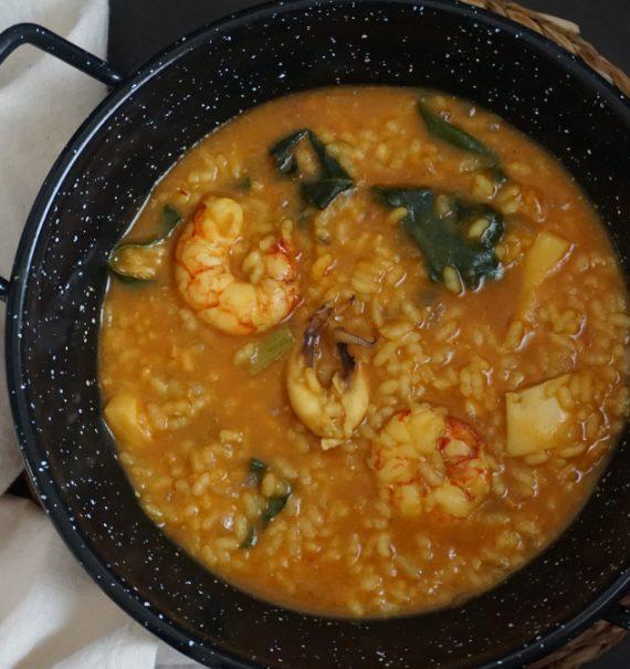 arroz caldoso de sepia y gambón
