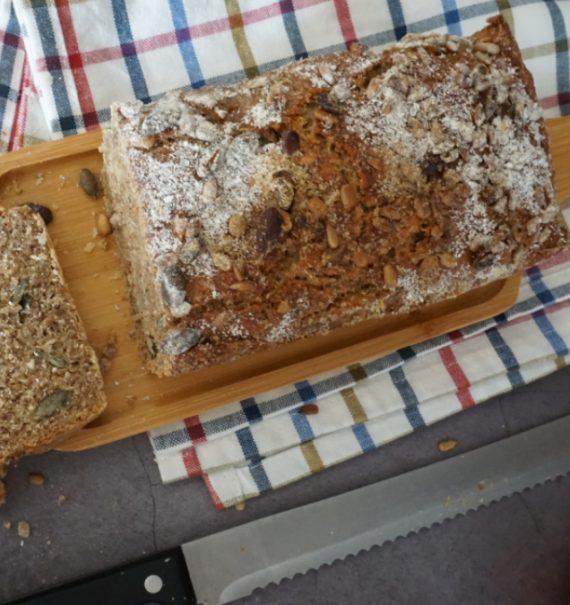 receta de pan de centeno integral fácil
