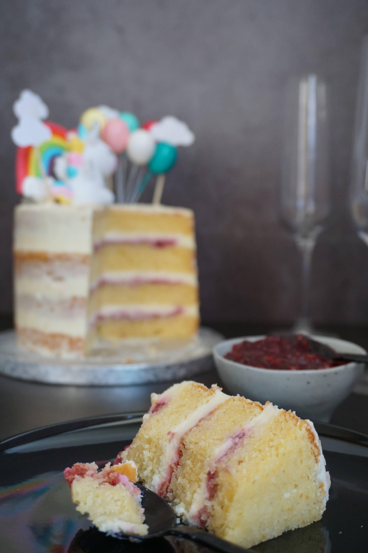 naked cake de limón