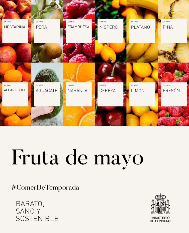 verduras y fruta de temporada mayo