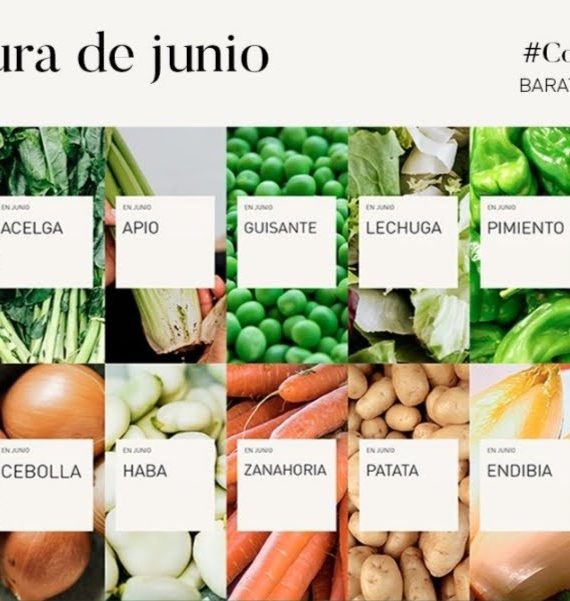 verduras y fruta de temporada junio