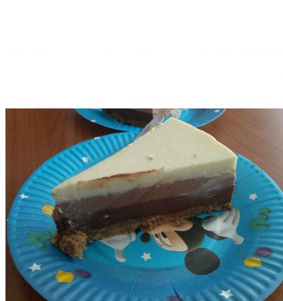 tarta 3 chocolates sin horno